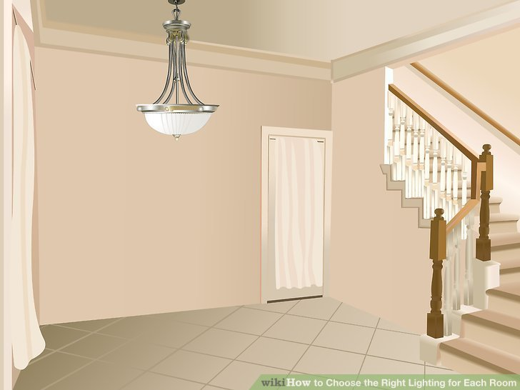 Use matching wall sconces to complement the hanging foyer fixture.