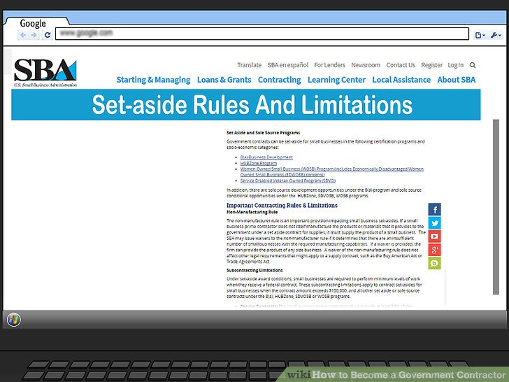 Evaluate the set-aside rules and limitations.