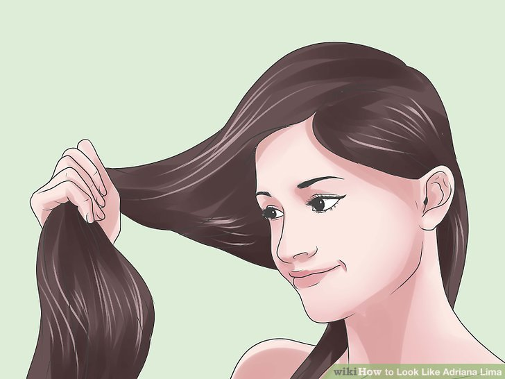 Gehen Sie brünett und gerade mit Ihren Haaren.