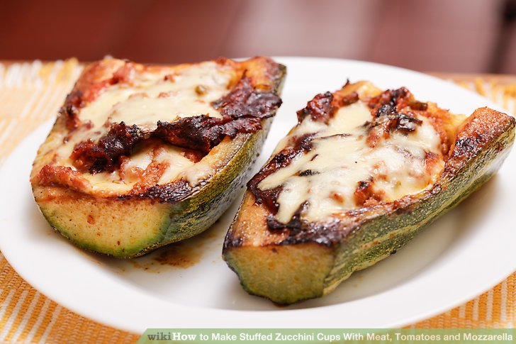 Transfer the zucchini cups to a platter.