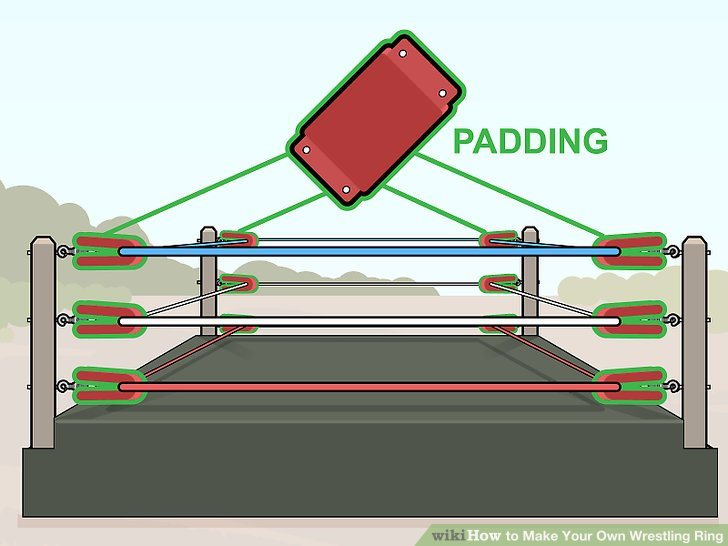 Cover the turnbuckles with padding.