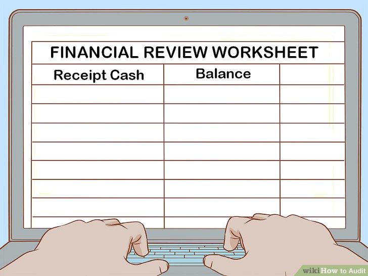 Füllen Sie das Arbeitsblatt zur Finanzübersicht aus.