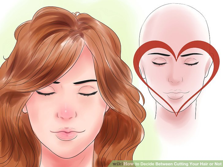 Keep your hair a little longer if you have a heart-shaped face.
