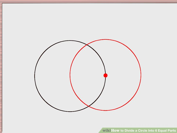 Divide A Circle Into 6 Equal Parts