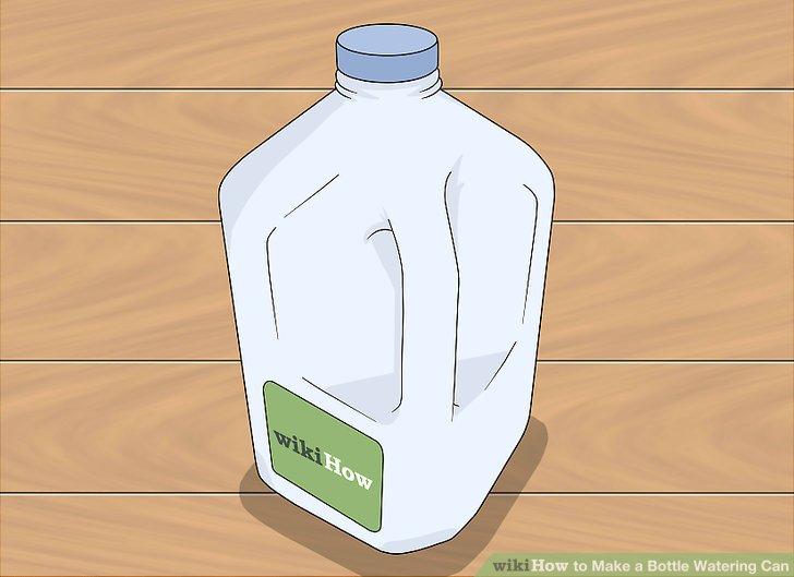 Finden Sie eine große Plastikflasche oder einen Krug.
