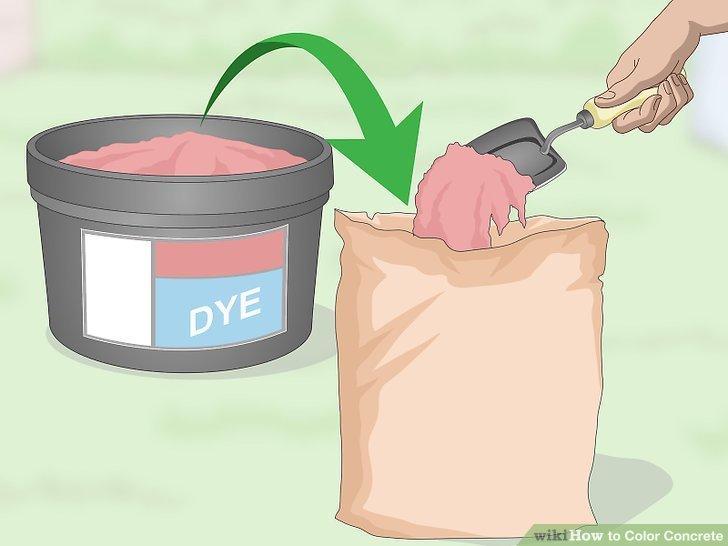 Transfer the dye to a plain paper bag.