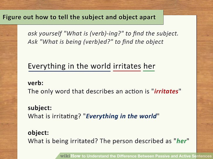 Figure out how to tell the subject and object apart.