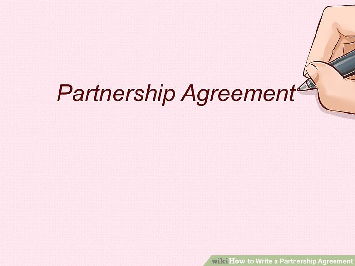 How To How To Write A Partnership Agreement