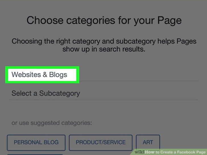 Bir sayfa kategorisi seçin.