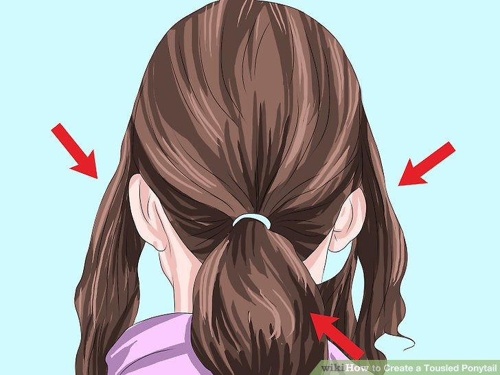 Image Titled Create A Tousled Ponytail Step 12