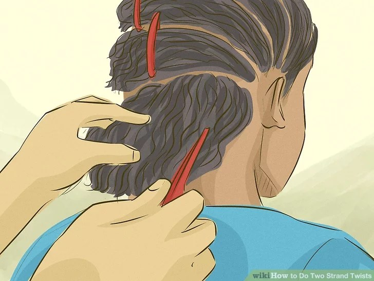 How To Do Two Strand Twists 12 Steps With Pictures Wikihow