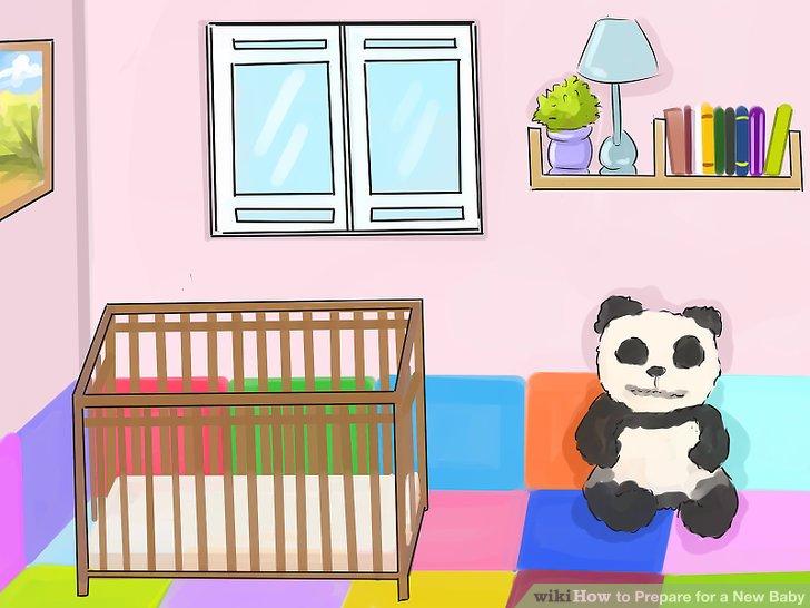 Richten Sie einen Raum oder Platz für Ihr Baby ein.