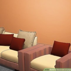 Large Pictures For Living Room Wall Navy Blue Sofa Ideas How To Decorate A With Wikihow Image Titled Step 6