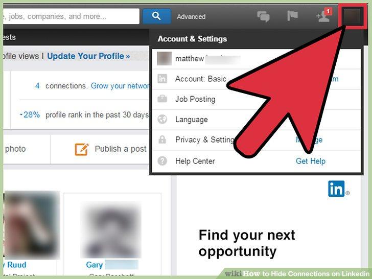 Bewegen Sie den Mauszeiger über das Symbol Ihres Profilbilds, um ein Dropdown-Menü zu öffnen.