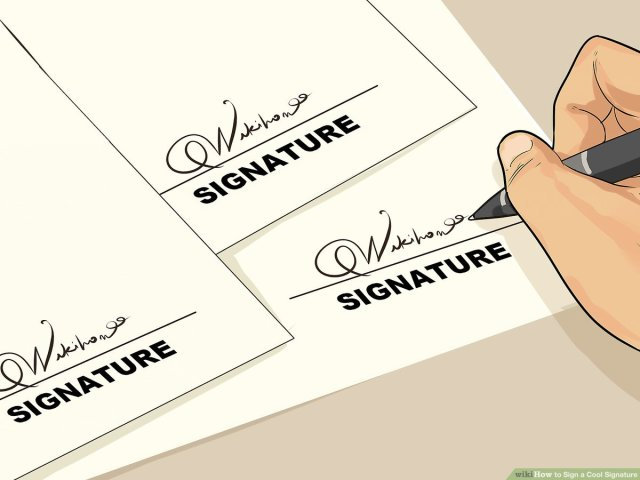 How to Sign a Cool Signature: 14 Steps (with Pictures) - wikiHow