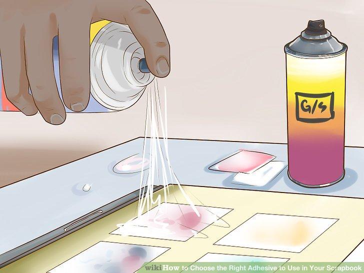 Verwenden Sie Sprühkleber für eine einfache und gleichmäßige Anwendung.