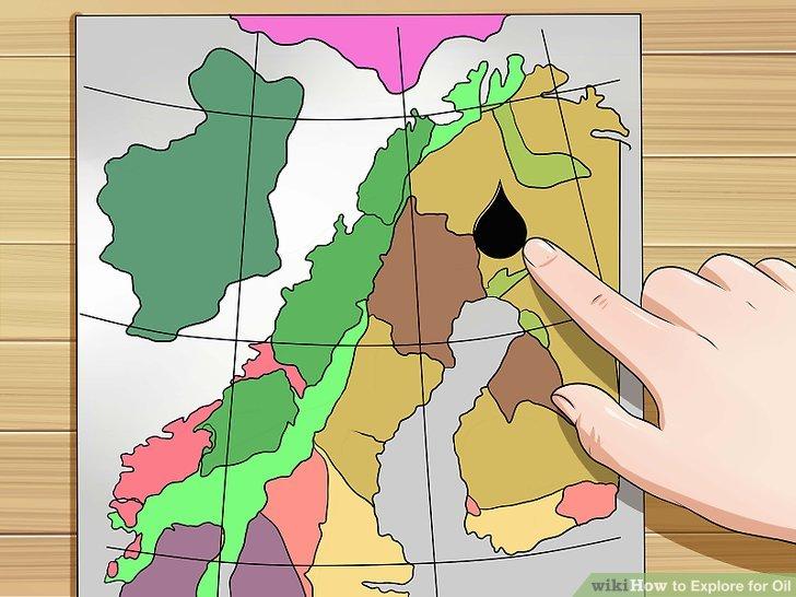 Verwenden Sie die regionale Geologie als Leitfaden dafür, wo sich Öl befinden könnte.