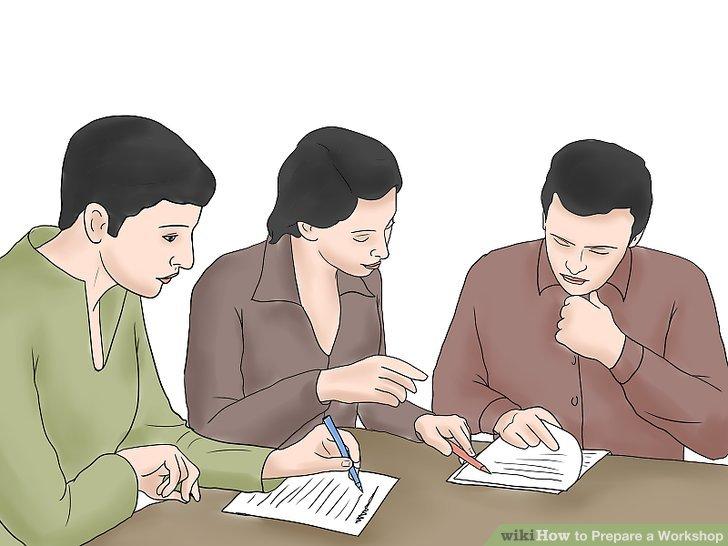 Sobald Sie Ihren Entwurf fertiggestellt haben, üben Sie die Präsentation Ihres Workshops.