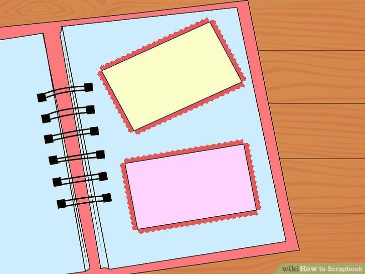 Ordnen Sie Hintergrundpapier und Ränder an.