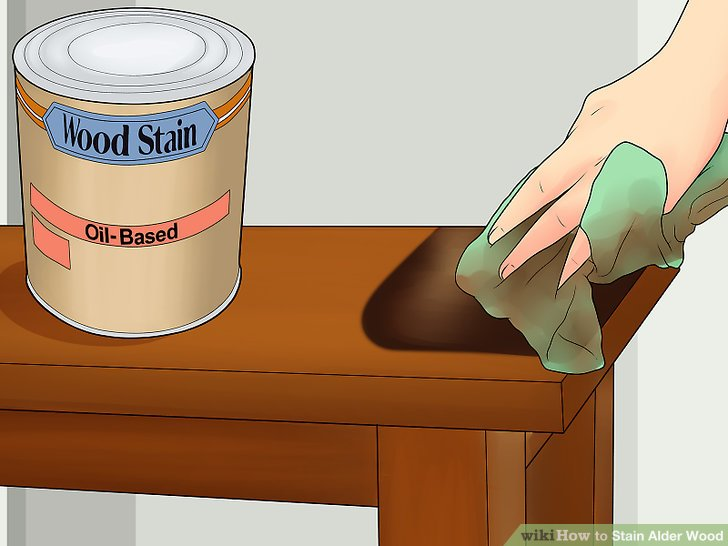 Test a small area of wood with the stain.
