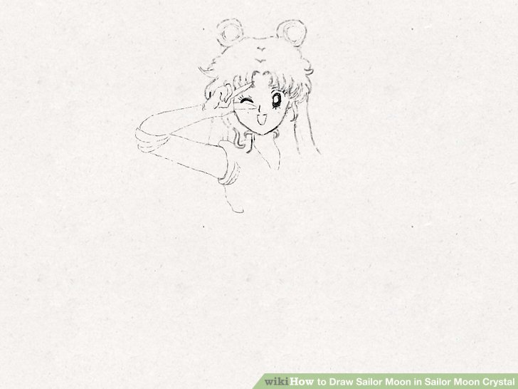 How to Draw Sailor Moon in Sailor Moon Crystal: 13 Steps