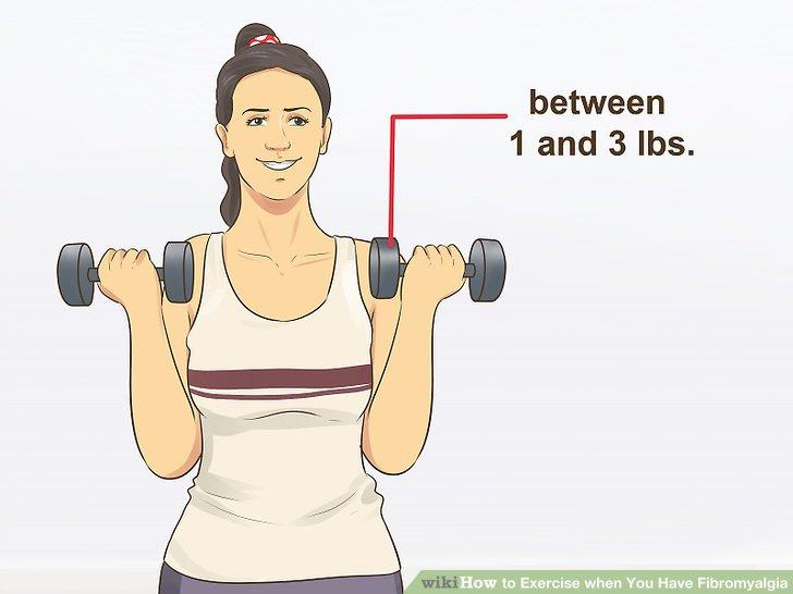 Verwenden Sie leichtere Gewichte.