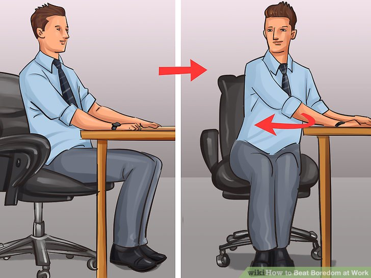 swivel chair exercise mickey mouse table and chairs canada 3 ways to beat boredom at work - wikihow