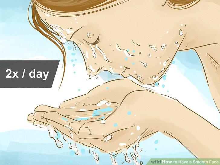 Wasche dein Gesicht zweimal täglich.