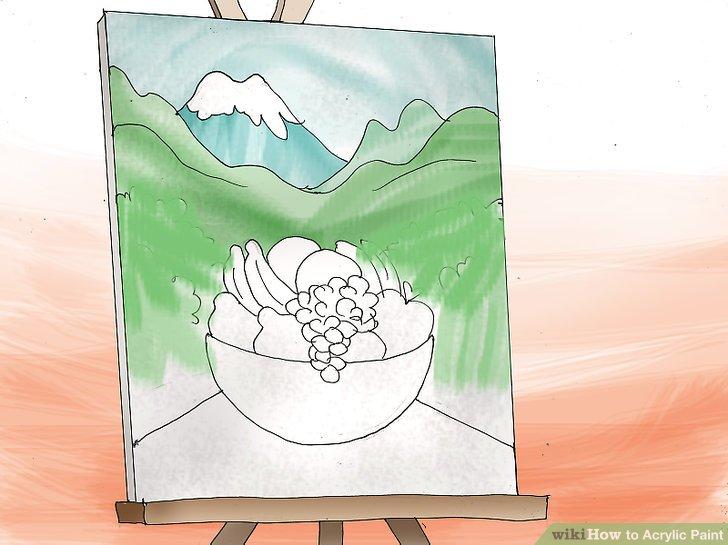 Beginnen Sie, den Hintergrund zu malen.