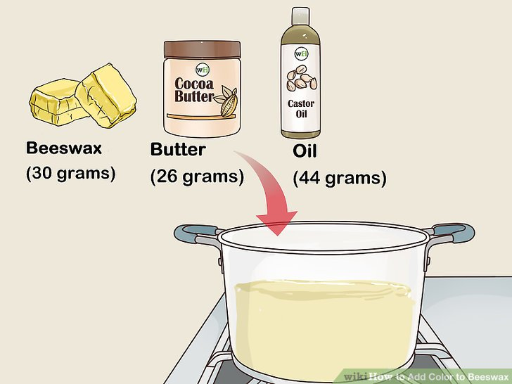 Melt your oil, beeswax, and butter.