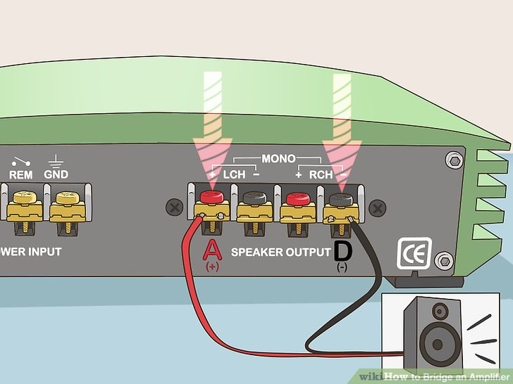 Es Sony Xplod Amp Wiring Diagram How To Bridge An Amplifier 7 Steps With Pictures Wikihow