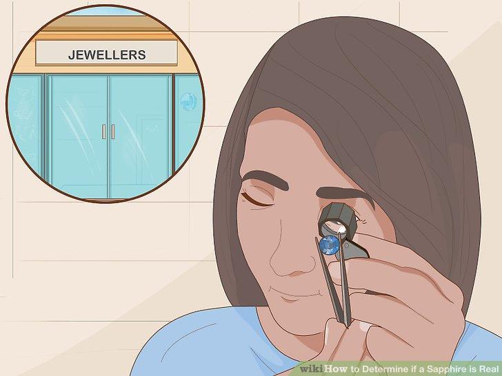 Fragen Sie den Juwelier, ob der Edelstein natürlich ist.