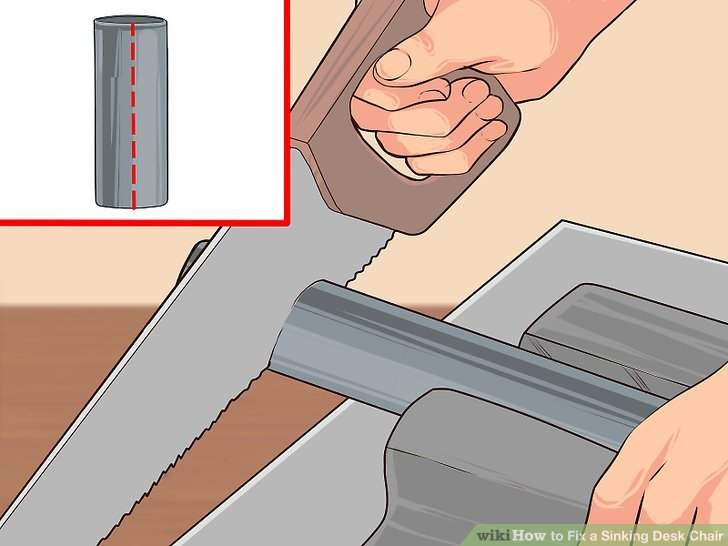 desk chair piston french country chairs 2 easy ways to fix a sinking wikihow image titled step 9