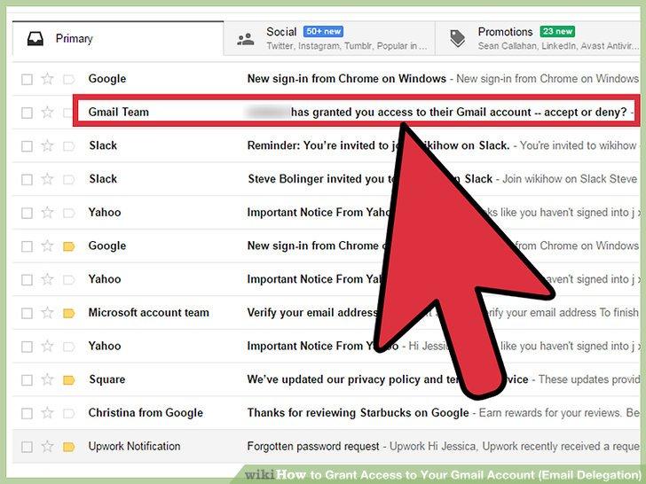 Klicken Sie auf die vom Google Mail-Team gesendete E-Mail.