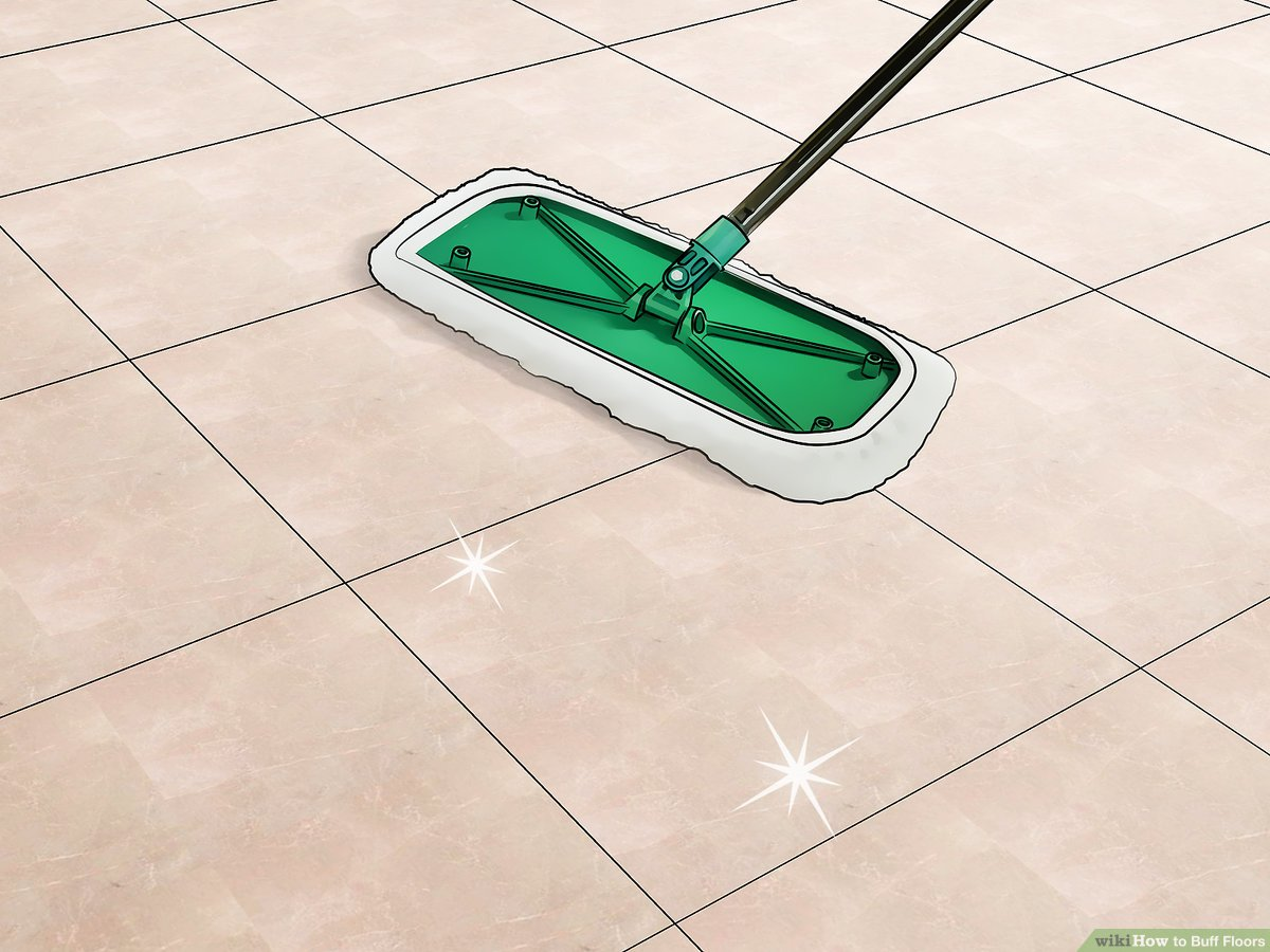 how to buff floors with pictures