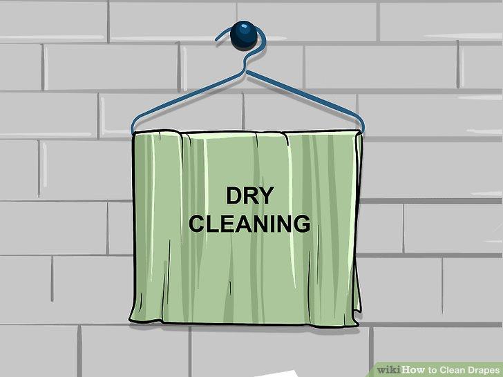 Trocknen Sie die Vorhänge bei Bedarf ab.