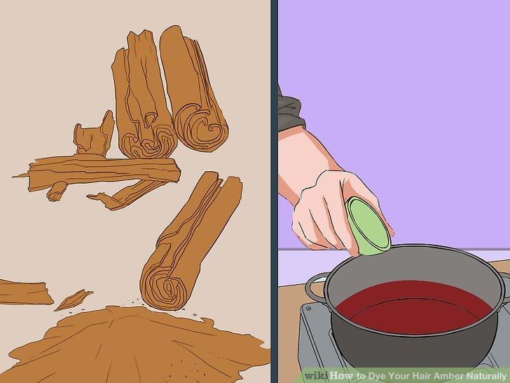 Take a few cinnamon sticks and crush them in a spice grinder.