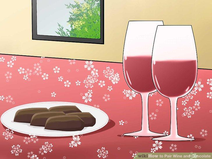 Passen Sie das Gewicht und die Textur des Weins an die Schokolade an.