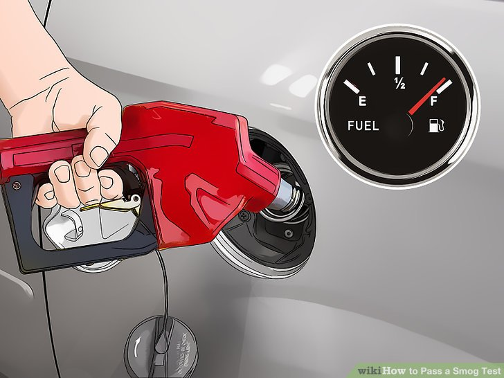 Get a full tank of gas before going to the test.