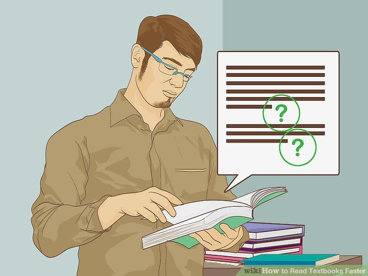 Examine the questions at the end of each section or chapter.