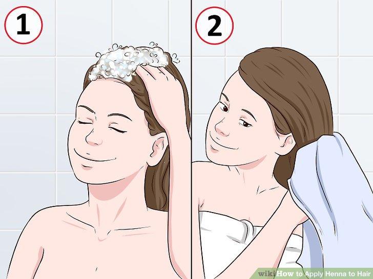 Shampoo, dann trockne dein Haar.