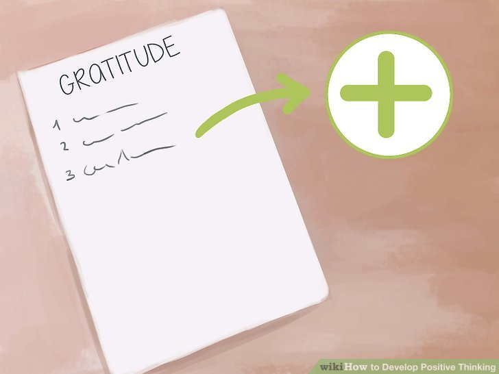 Write down what you are grateful for.