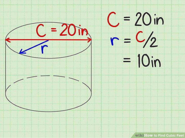 Messen Sie die Breite eines kreisförmigen Endes und teilen Sie die Hälfte.
