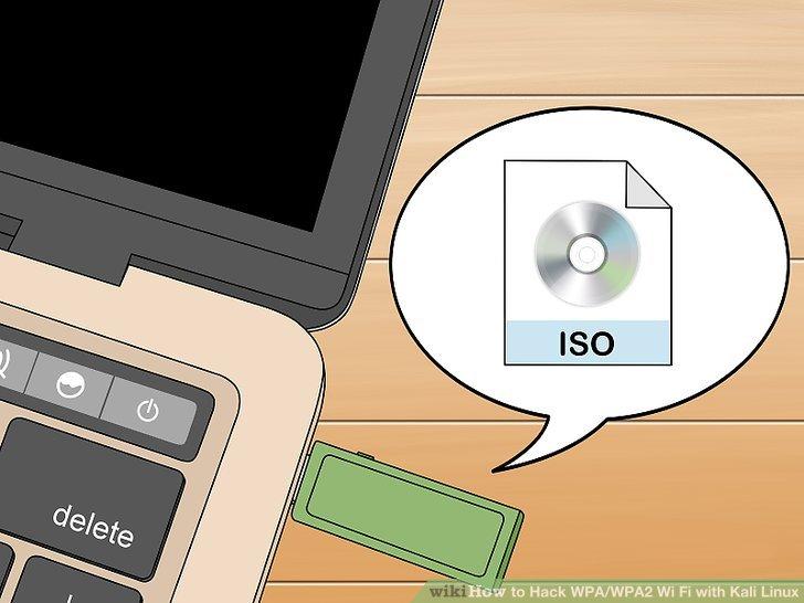 Legen Sie die Kali Linux ISO-Datei auf das Flash-Laufwerk.