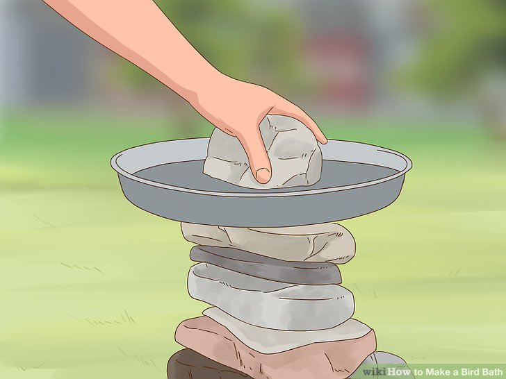 Secure the lid with a large stone.
