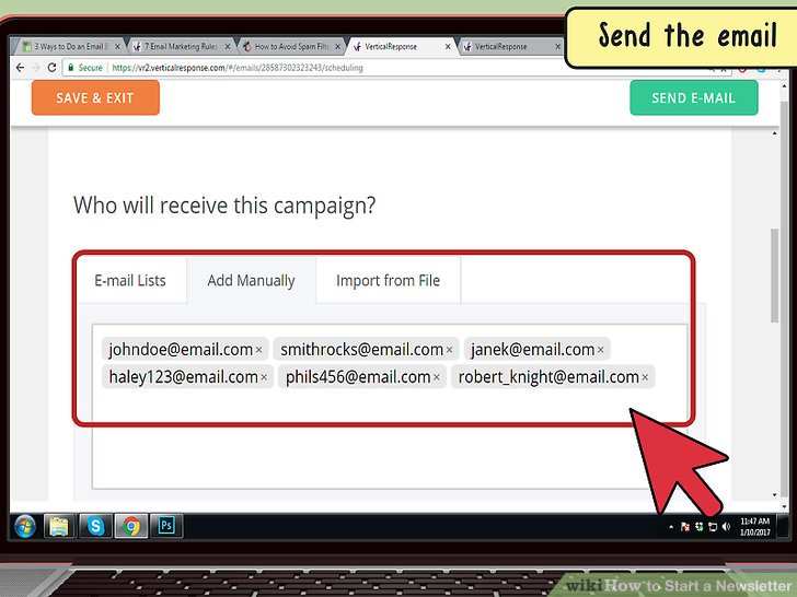 Distribute digital copies through email.