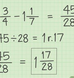 How to Subtract Fractions: 11 Steps (with Pictures) - wikiHow [ 900 x 1200 Pixel ]