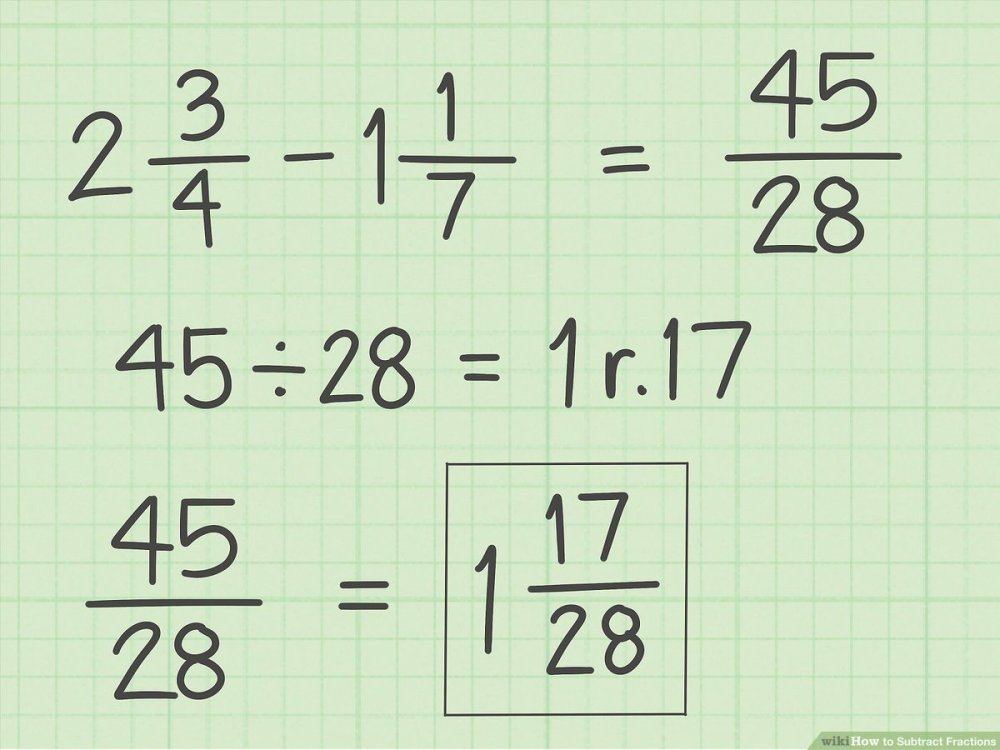 medium resolution of How to Subtract Fractions: 11 Steps (with Pictures) - wikiHow