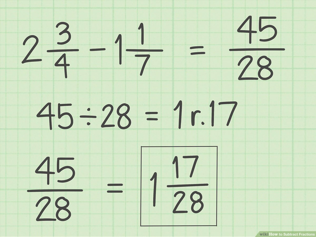 hight resolution of How to Subtract Fractions: 11 Steps (with Pictures) - wikiHow