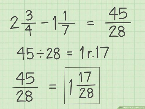small resolution of How to Subtract Fractions: 11 Steps (with Pictures) - wikiHow